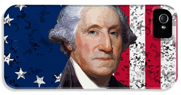 Continental iPhone 5 Cases - Washington and The American Flag iPhone 5 Case by War Is Hell Store