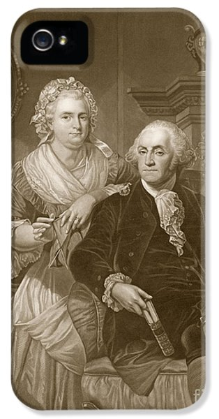 Washington At Home IPhone 5 / 5s Case by Alonzo Chappel