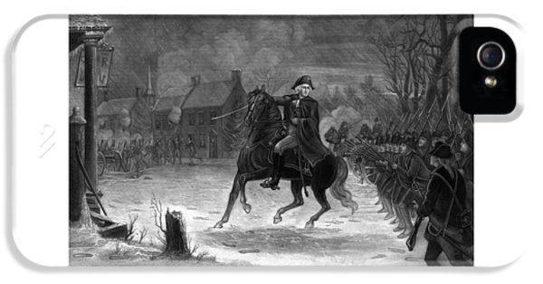 Washington At The Battle Of Trenton IPhone 5 / 5s Case by War Is Hell Store