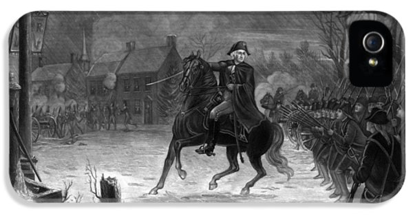 American Revolution iPhone 5 Cases - Washington At The Battle Of Trenton iPhone 5 Case by War Is Hell Store