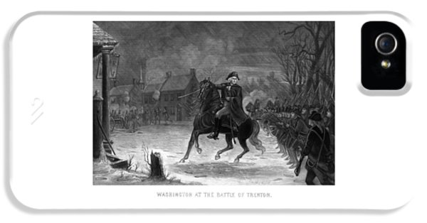 Continental iPhone 5 Cases - Washington At The Battle Of Trenton iPhone 5 Case by War Is Hell Store