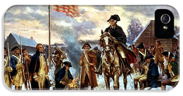 Washington At Valley Forge IPhone 5 / 5s Case by War Is Hell Store