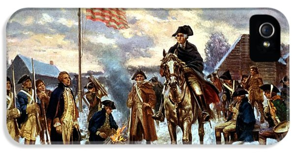 War iPhone 5 Cases - Washington at Valley Forge iPhone 5 Case by War Is Hell Store