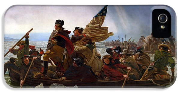 American Revolution iPhone 5 Cases - Washington Crossing the Delaware Painting iPhone 5 Case by War Is Hell Store