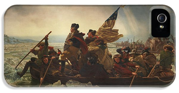 American iPhone 5 Cases - Washington Crossing The Delaware iPhone 5 Case by War Is Hell Store