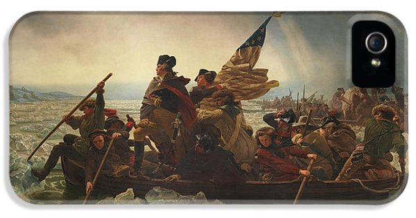 Continental iPhone 5 Cases - Washington Crossing The Delaware iPhone 5 Case by War Is Hell Store