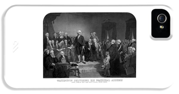 Memorial Day iPhone 5 Cases - Washington Delivering His Inaugural Address iPhone 5 Case by War Is Hell Store