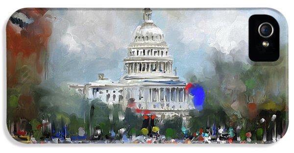 Washington Painting 478 I IPhone 5 / 5s Case by Mawra Tahreem