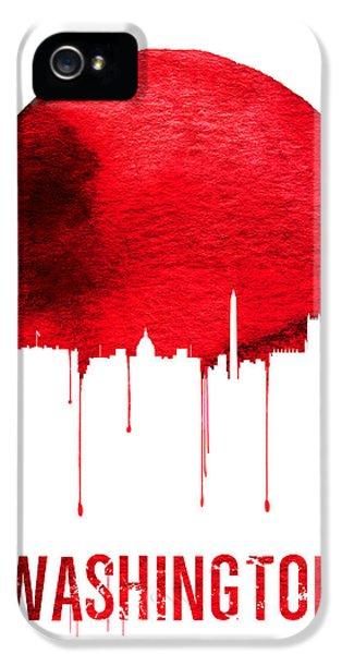 Washington Skyline Red IPhone 5 / 5s Case by Naxart Studio