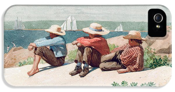 Homer iPhone 5 Cases - Watching Ships   Gloucester iPhone 5 Case by Winslow Homer