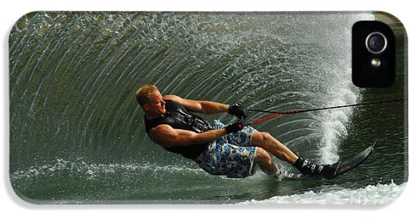 Health Fitness iPhone 5 Cases - Water Skiing Magic of Water 11 iPhone 5 Case by Bob Christopher