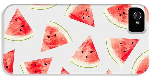 Watercolor Watermelon Pattern IPhone 5 / 5s Case by Uma Gokhale