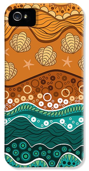 Calm iPhone 5 Cases - Waves iPhone 5 Case by Veronica Kusjen