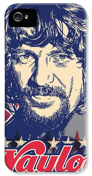 Texas iPhone 5 Cases - Waylon Jennings Pop Art iPhone 5 Case by Jim Zahniser
