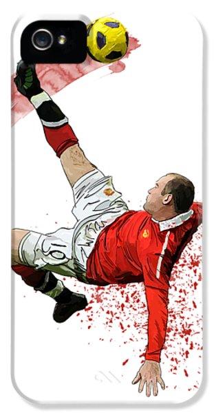 Wayne Rooney IPhone 5 / 5s Case by Armaan Sandhu