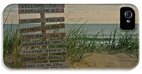 Sign iPhone 5 Cases - Welcome to Manasquan iPhone 5 Case by Robert Pilkington