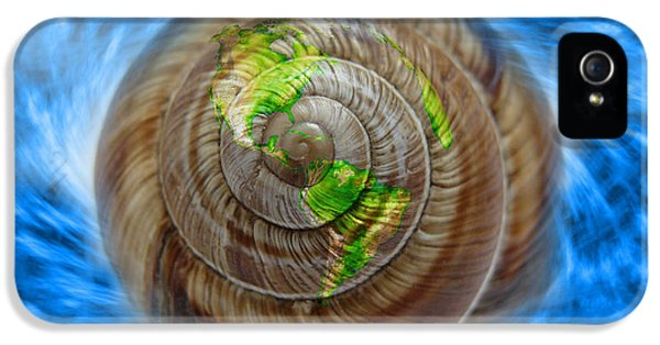 Environment Concept Art iPhone 5 Cases - Western Hemisphere On A Seashell iPhone 5 Case by George Mattei