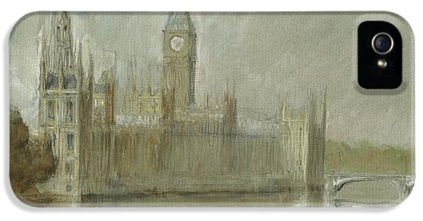 Westminster Palace And Big Ben London IPhone 5 / 5s Case by Juan Bosco