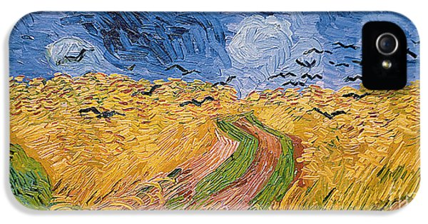 Meadow iPhone 5 Cases - Wheatfield with Crows iPhone 5 Case by Vincent van Gogh