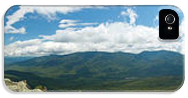 Washington iPhone 5 Cases - White Mountains Pano iPhone 5 Case by Sebastian Musial
