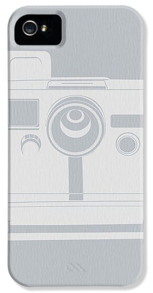 Mid iPhone 5 Cases - White Polaroid Camera iPhone 5 Case by Naxart Studio