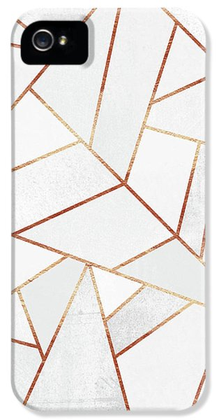 White Stone And Copper Lines IPhone 5 / 5s Case by Elisabeth Fredriksson