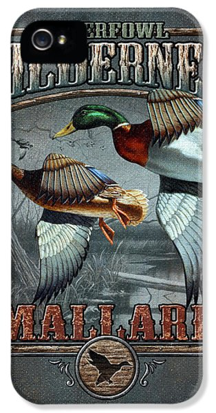 Hunting iPhone 5 Cases - Wilderness mallard iPhone 5 Case by JQ Licensing
