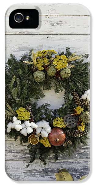 Potting Shed iPhone 5 Cases - Williamsburg Wreath 09 iPhone 5 Case by Teresa Mucha
