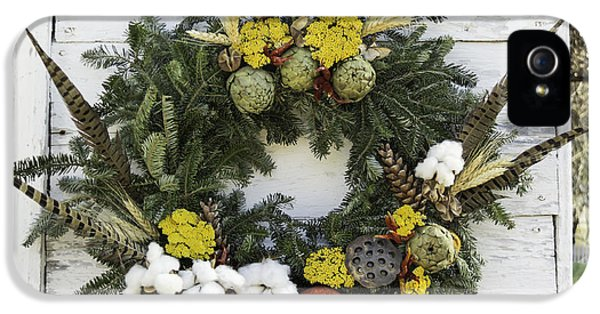 Potting Shed iPhone 5 Cases - Williamsburg Wreath 09b iPhone 5 Case by Teresa Mucha