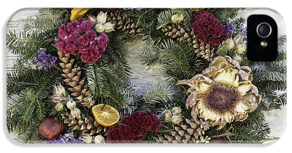 Potting Shed iPhone 5 Cases - Williamsburg Wreath 10b iPhone 5 Case by Teresa Mucha
