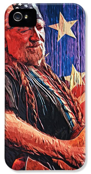 Willie Nelson IPhone 5 / 5s Case by Taylan Soyturk