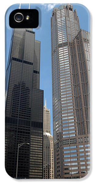 Sears iPhone 5 Cases - Willis Tower aka Sears Tower and 311 South Wacker Drive iPhone 5 Case by Adam Romanowicz