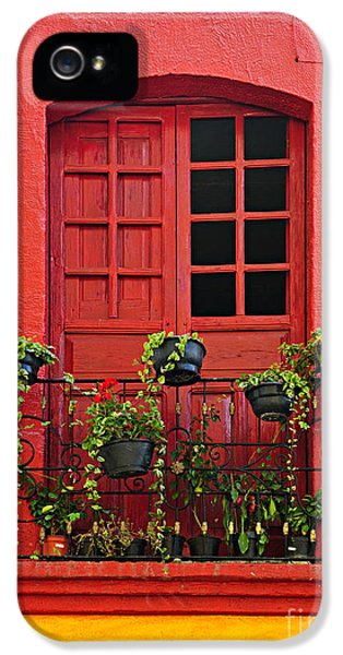 House iPhone 5 Cases - Window on Mexican house iPhone 5 Case by Elena Elisseeva