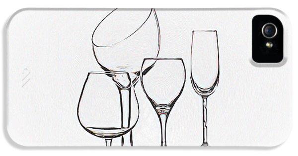 Wineglass Graphic IPhone 5 / 5s Case by Tom Mc Nemar