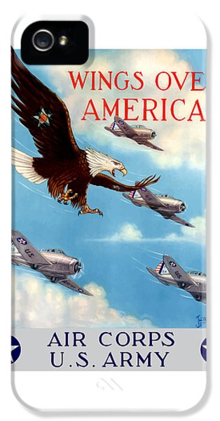 Wings Over America - Air Corps U.s. Army IPhone 5 / 5s Case by War Is Hell Store