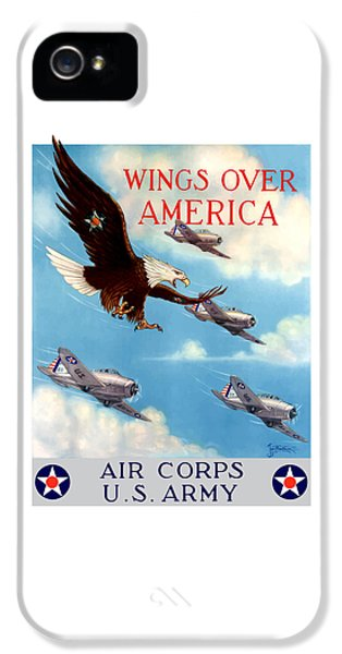 Force iPhone 5 Cases - Wings Over America - Air Corps U.S. Army iPhone 5 Case by War Is Hell Store