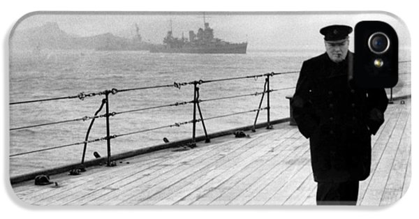 Winston Churchill At Sea IPhone 5 / 5s Case by War Is Hell Store