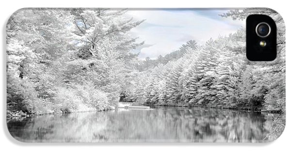 Infrared iPhone 5 Cases - Winter at the Reservoir iPhone 5 Case by Lori Deiter