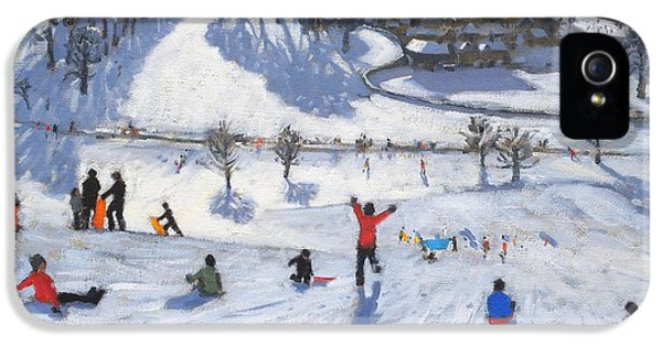 Meadow iPhone 5 Cases - Winter Fun iPhone 5 Case by Andrew Macara