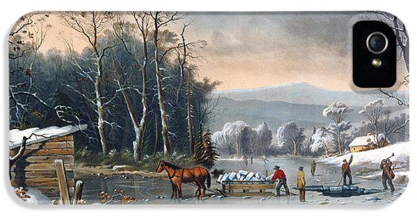 Winter In The Country IPhone 5 / 5s Case by Currier and Ives