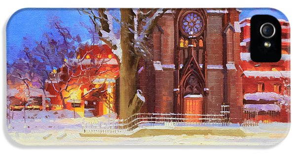 Oil House iPhone 5 Cases - Winter Lorreto chapel iPhone 5 Case by Gary Kim