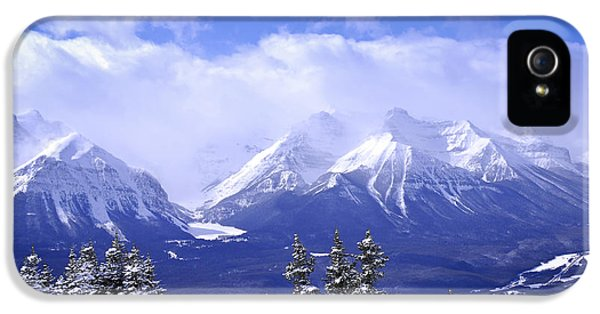 Mountain iPhone 5 Cases - Winter mountains iPhone 5 Case by Elena Elisseeva