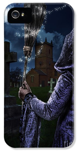 Witch iPhone 5 Cases - Witch and her Broomstick iPhone 5 Case by Amanda And Christopher Elwell