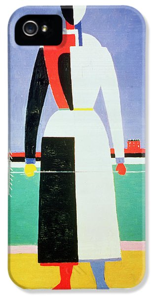 Woman With A Rake IPhone 5 / 5s Case by Kazimir Severinovich Malevich