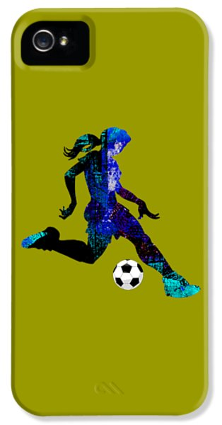 Womens Girls Soccer Collection IPhone 5 / 5s Case by Marvin Blaine