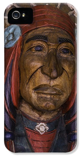 American Western iPhone 5 Cases - Wooden Indian New orleans iPhone 5 Case by Garry Gay