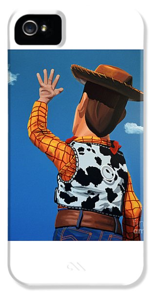Woody Of Toy Story IPhone 5 / 5s Case by Paul Meijering
