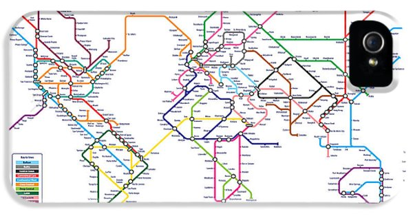World Metro Tube Subway Map IPhone 5 / 5s Case by Michael Tompsett