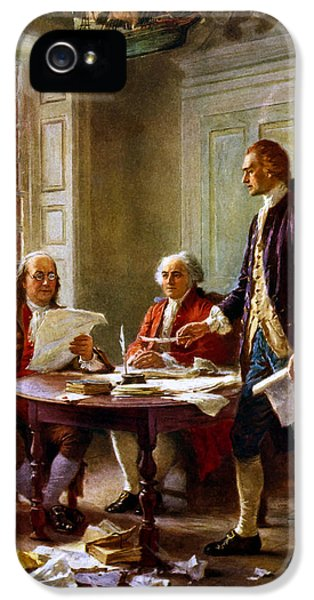 Writing The Declaration Of Independence IPhone 5 / 5s Case by War Is Hell Store