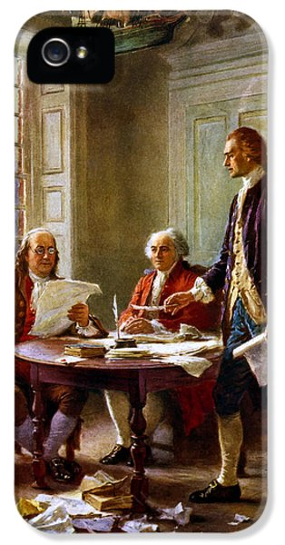 War iPhone 5 Cases - Writing The Declaration of Independence iPhone 5 Case by War Is Hell Store